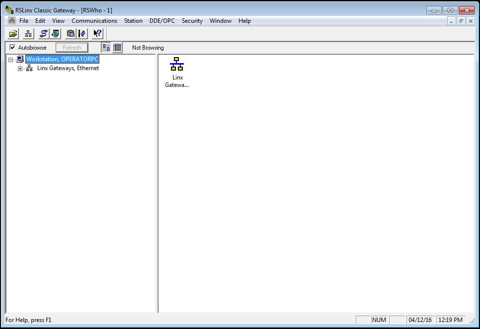 RSLinx - Open
